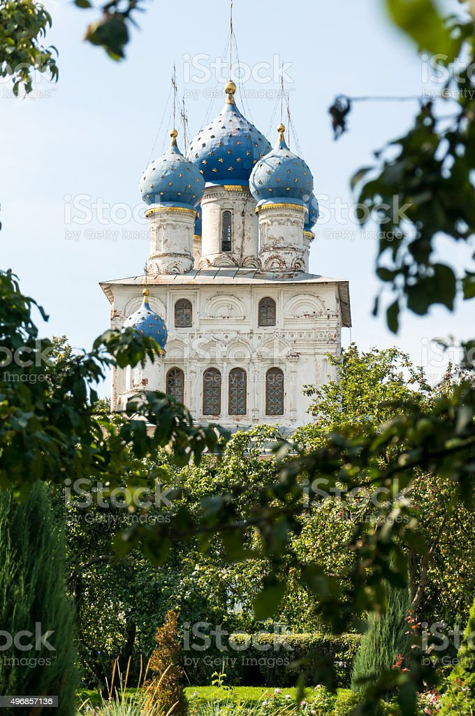 MOSCOW, RUSSIA: View of the Kolomenskoye estate and park stock photo