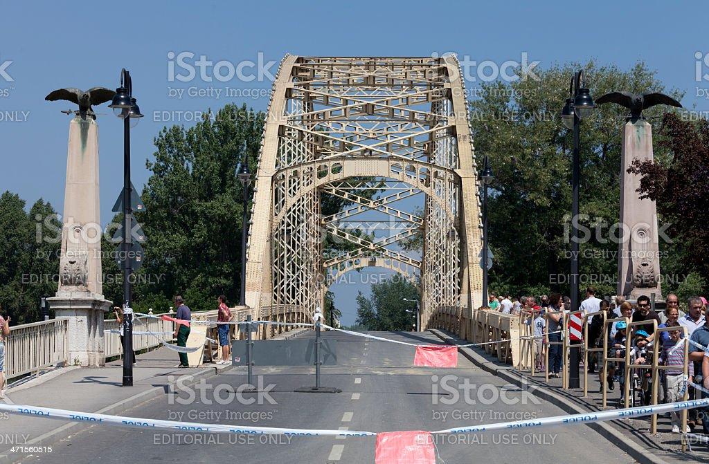 View of the Kossuth bridge royalty-free stock photo
