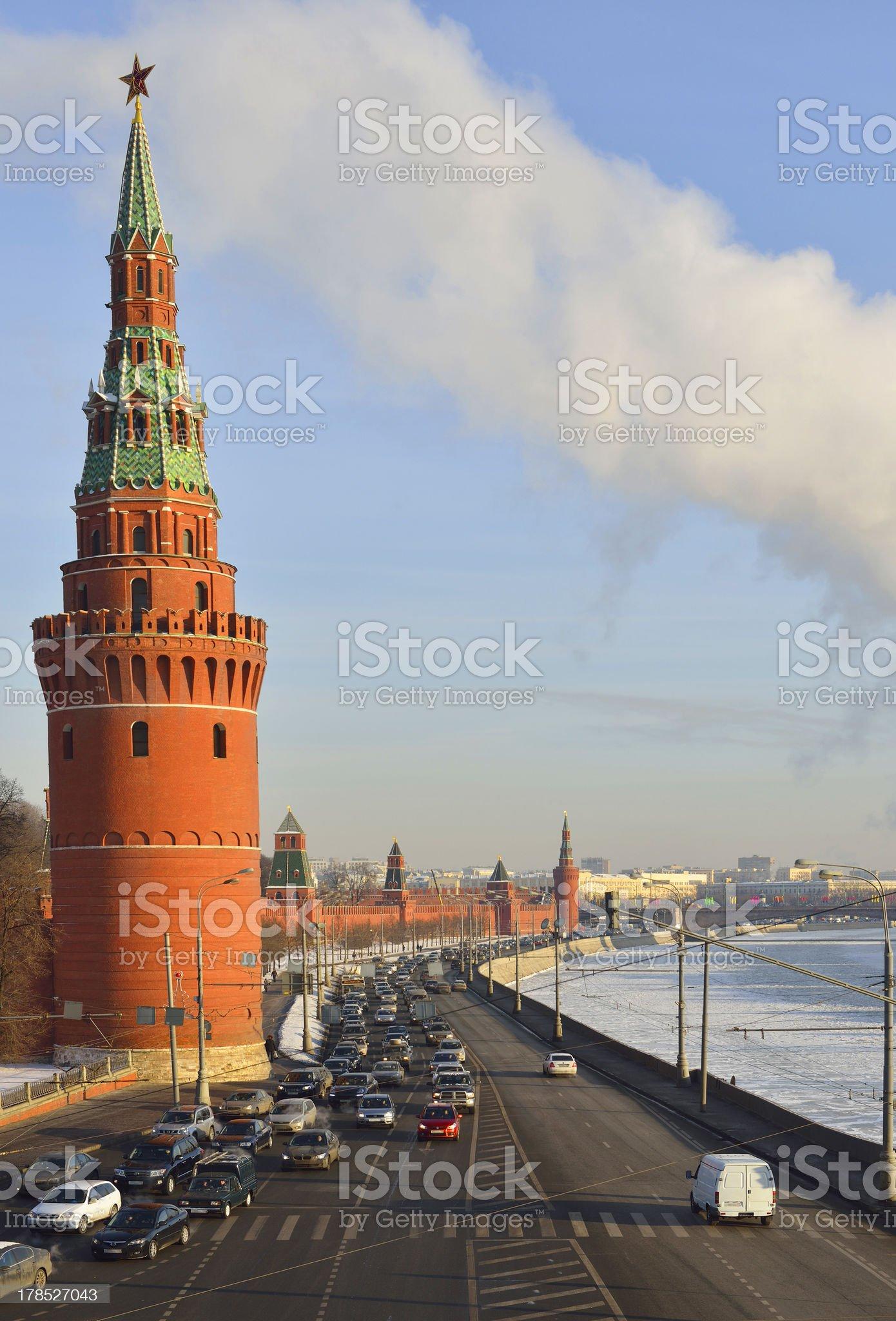 View of the Kremlin Embankment royalty-free stock photo