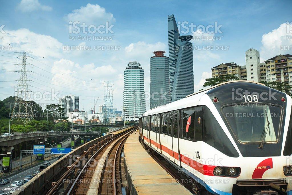 View of the Kuala Lumpur from Kelana Jaya Line stock photo