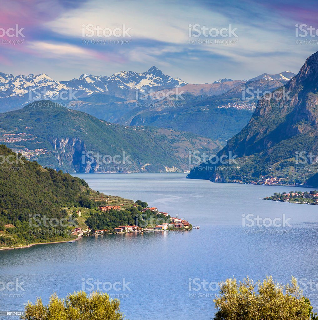 View of the Lake Iseo stock photo