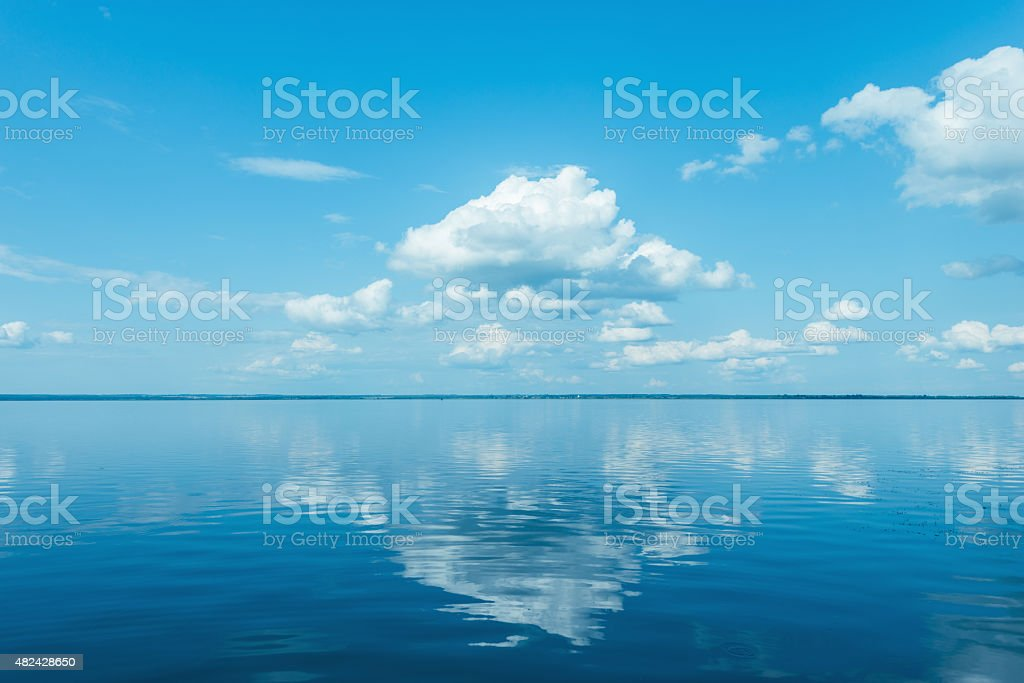 View of the lake. stock photo