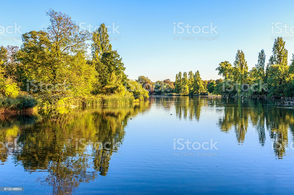View of The Long Water in Hyde Park stock photo