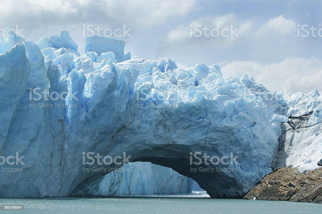 View of the magnificent Perito Moreno glacier, Argentina. stock photo