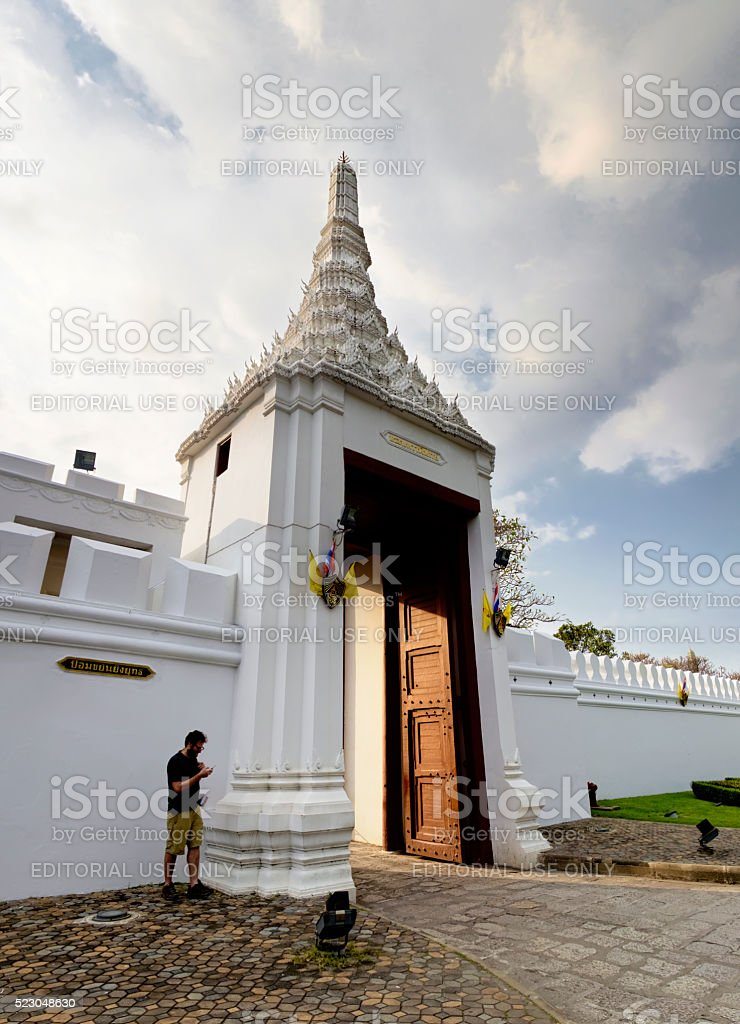 View of the main gate of Grand Palace in Bangkok stock photo