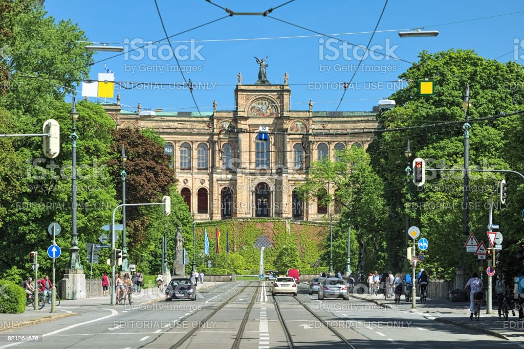 View of the Maximilianeum in Munich, Germany stock photo