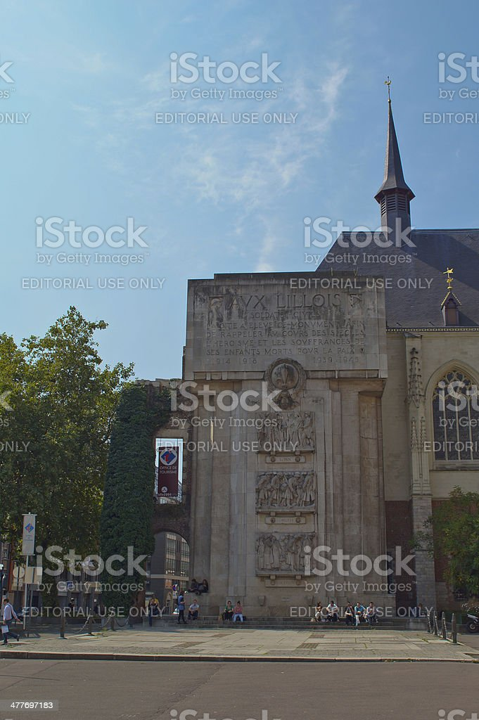View of the Memorial cenotaph in Lille stock photo