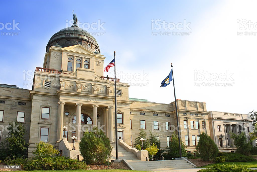View of the Montana State Capitol building  stock photo