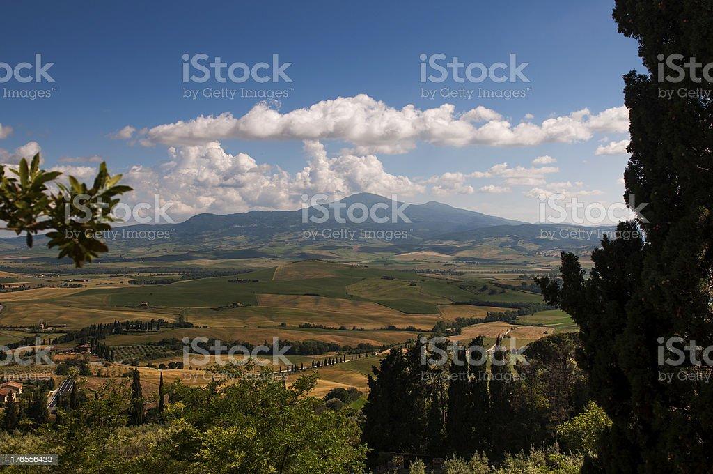 View of the Monte Amiata royalty-free stock photo