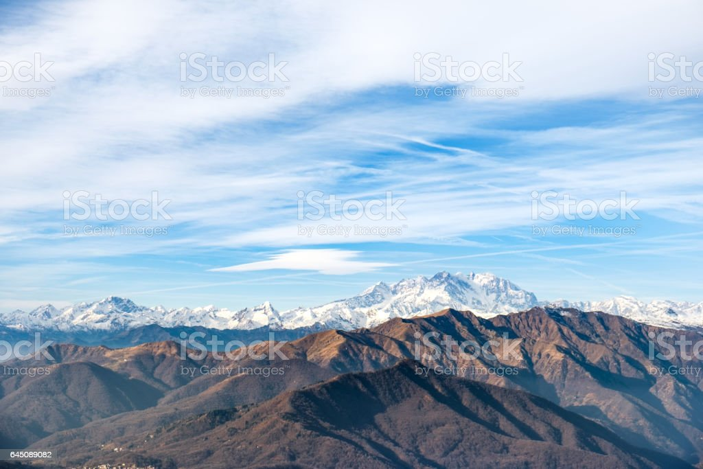 View of the Monte Rosa, Italy stock photo