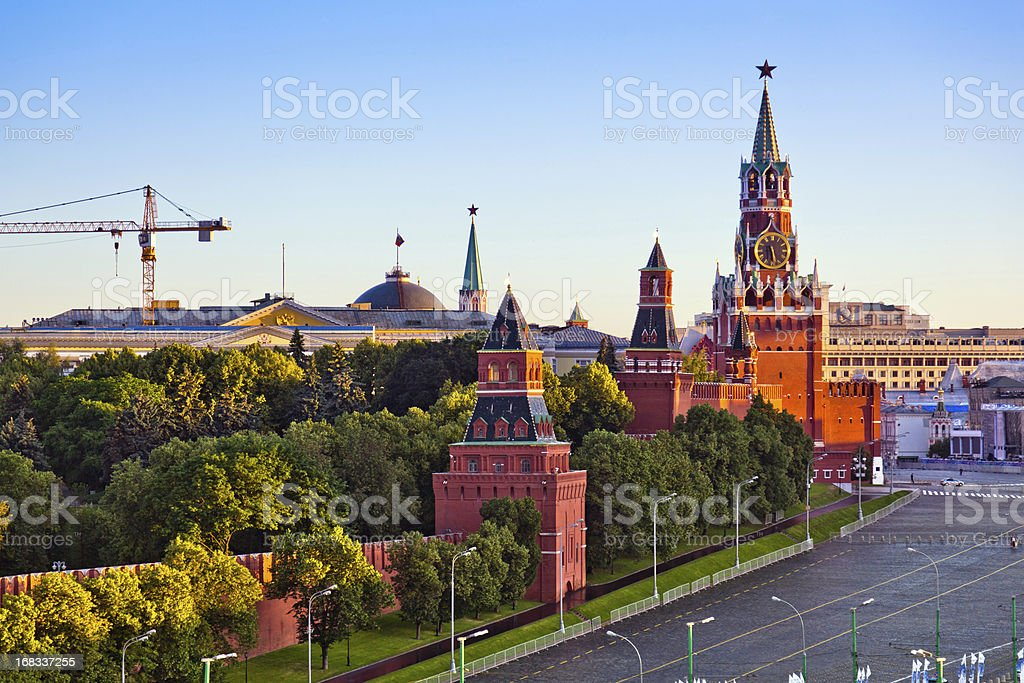 View of the Moscow Kremlin in morning stock photo
