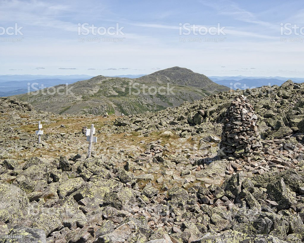 View of the Mount Eisenhower Summit stock photo