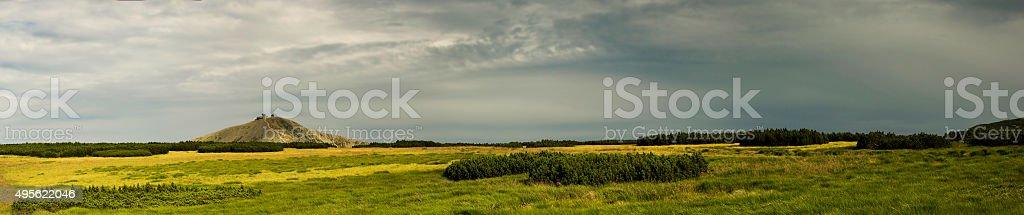View of the mountain Sniezka. stock photo