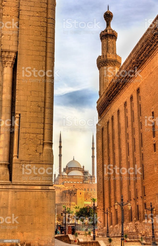 View of the Muhammad Ali Mosque between the Mosques stock photo