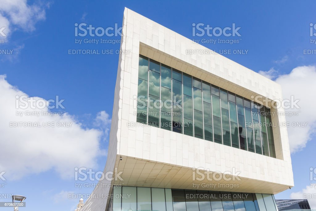 View of the Museum of Liverpool in the Pier Head stock photo
