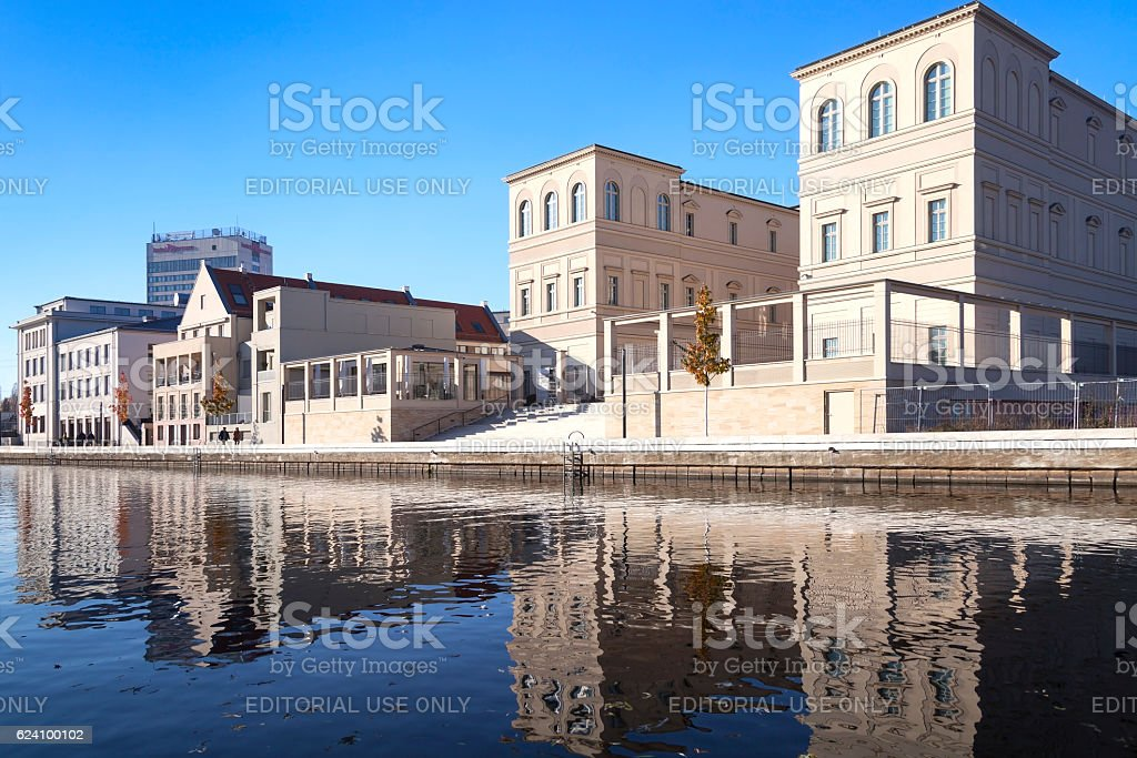 View of the new reconstructed skyline of Potsdam stock photo
