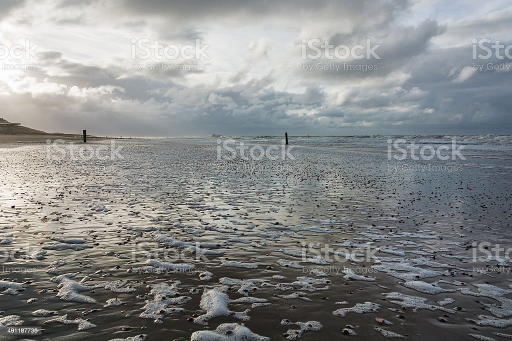 View of the North Sea stock photo