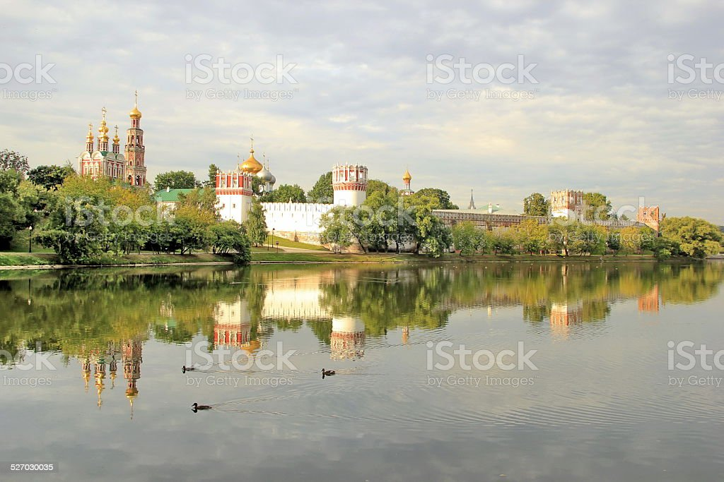 View of the Novodevichy Convent stock photo