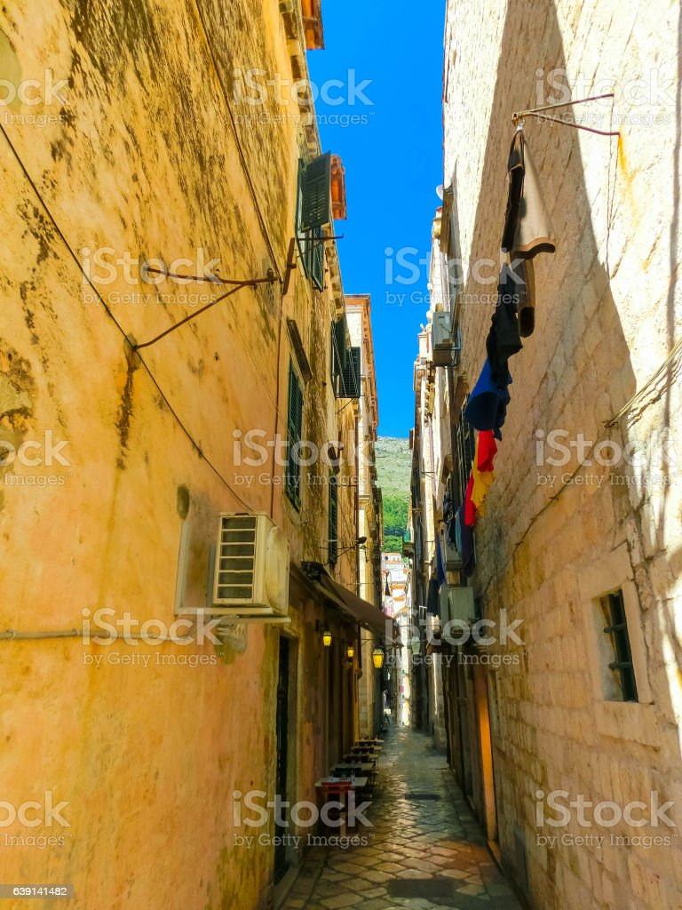 View of the old town Dubrovnik, Croatia. stock photo