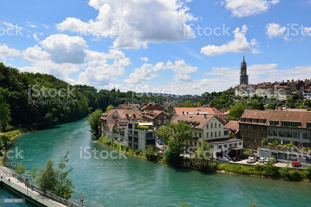 View of the old town of Bern stock photo