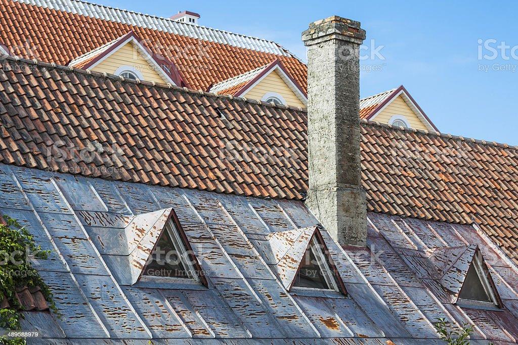 View of the old town (Tallinn, Estonia) royalty-free stock photo