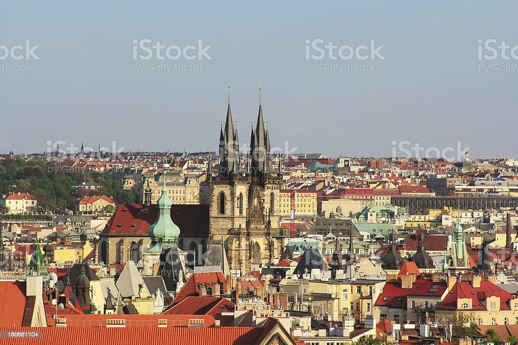 View of the Old Town Square, Prague royalty-free stock photo