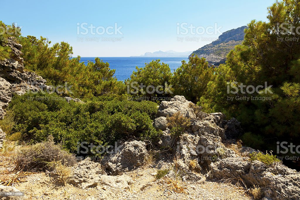 view of the open sea royalty-free stock photo
