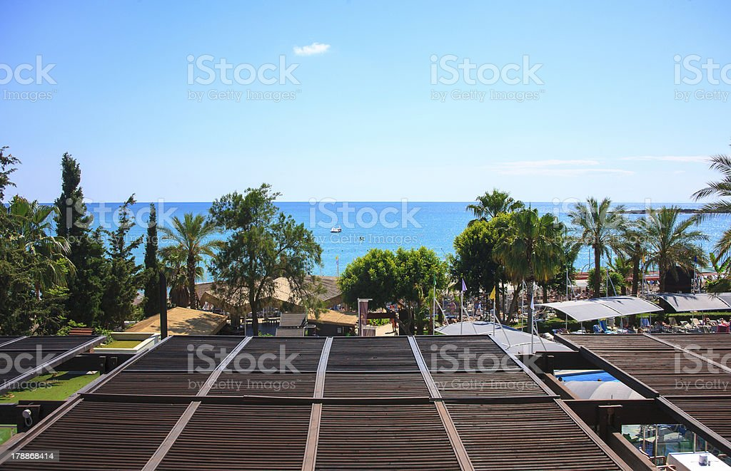 view of the open sea Turkey royalty-free stock photo
