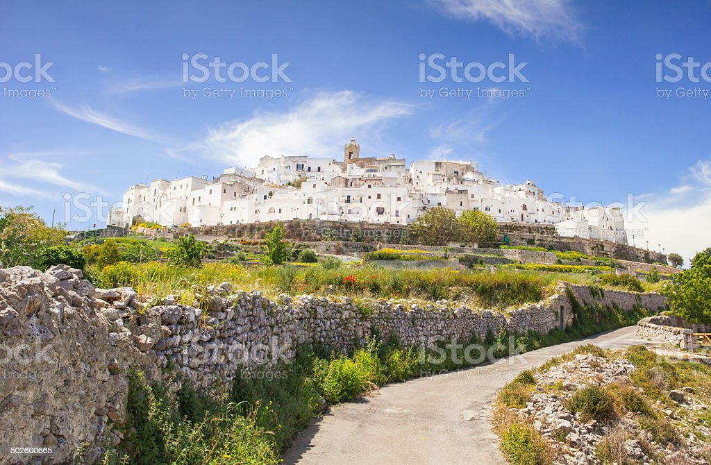 View of the Ostuni, Italy stock photo