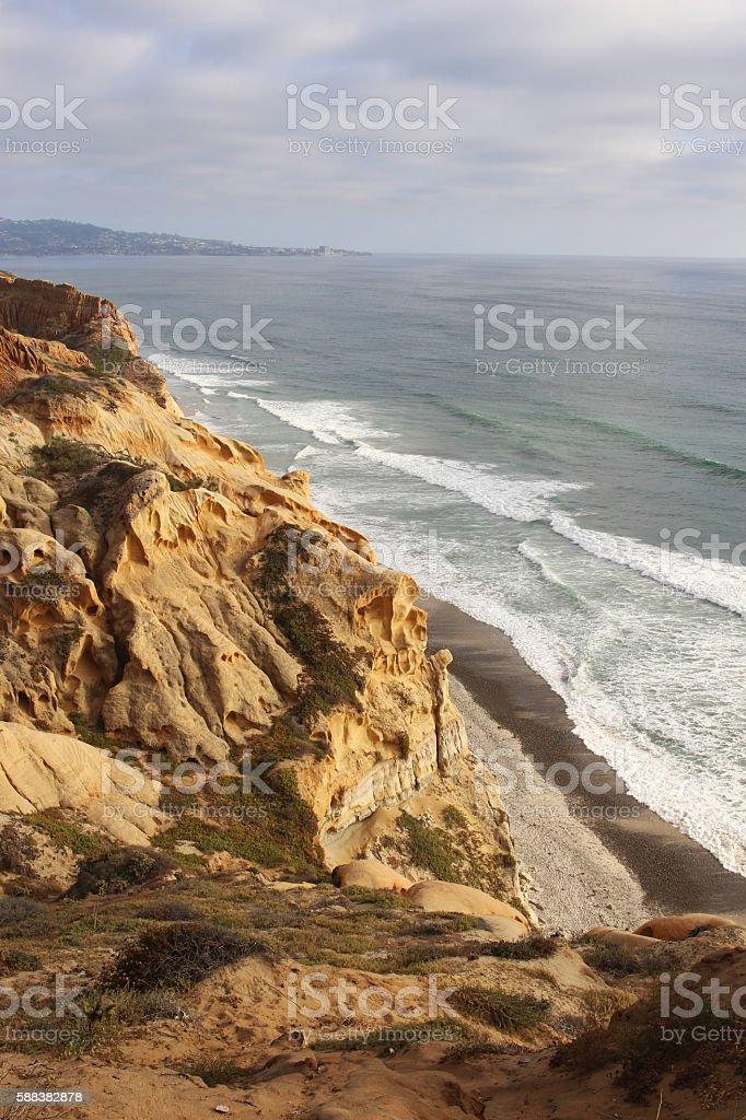 View of the Pacific coastline stock photo