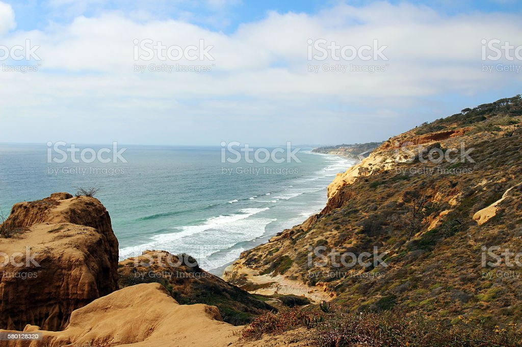 View of the Pacific Ocean stock photo