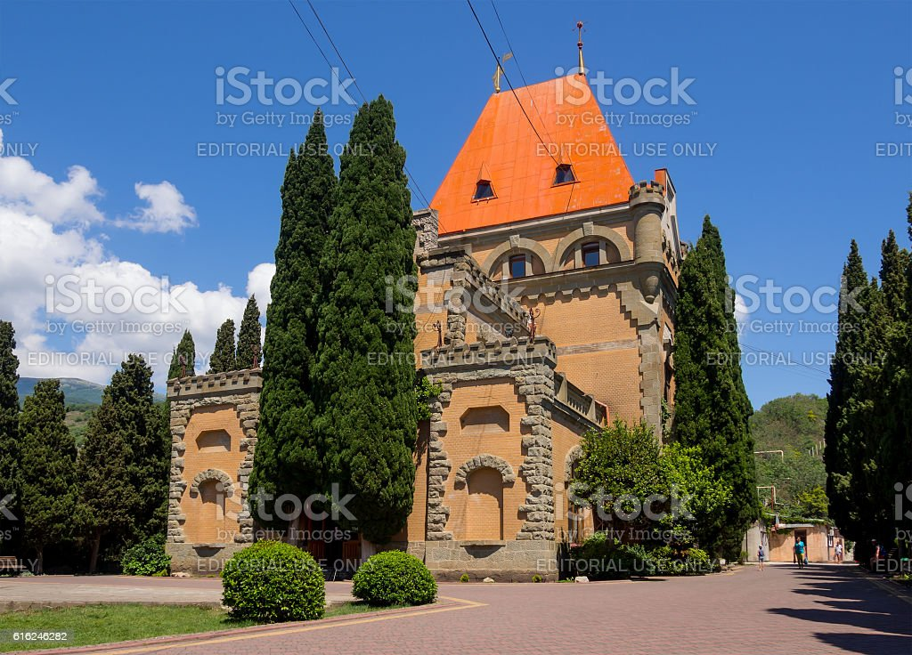 View of the palace of Princess Gagarin in Utes village stock photo
