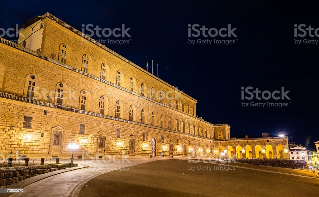 View of the Palazzo Pitti in Florence - Italy stock photo