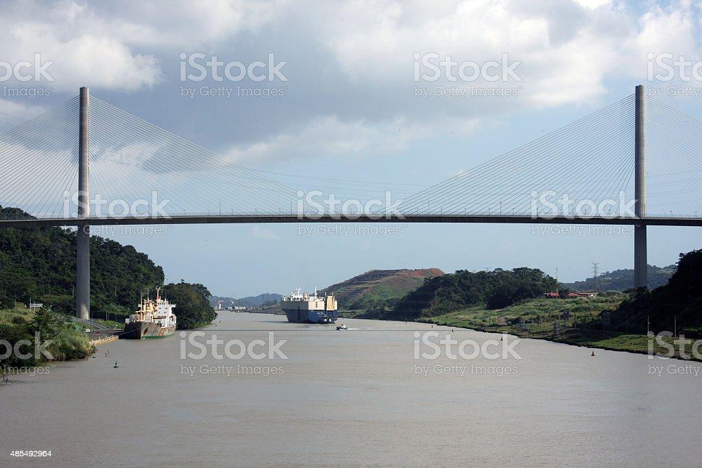 View of the Panama Canal, Panama stock photo