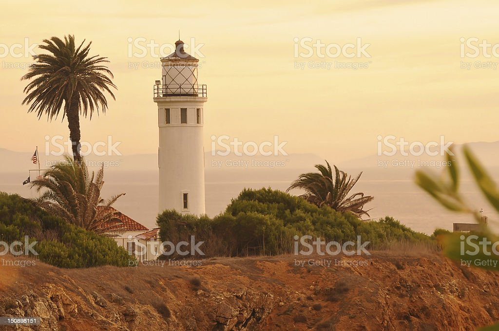 A view of the Point Vicente Lighthouse stock photo