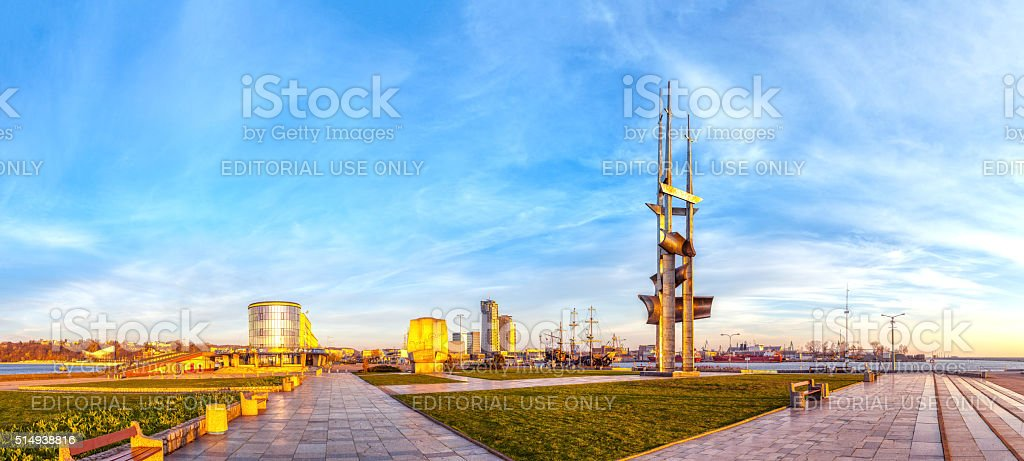 View of the port city of Gdynia stock photo