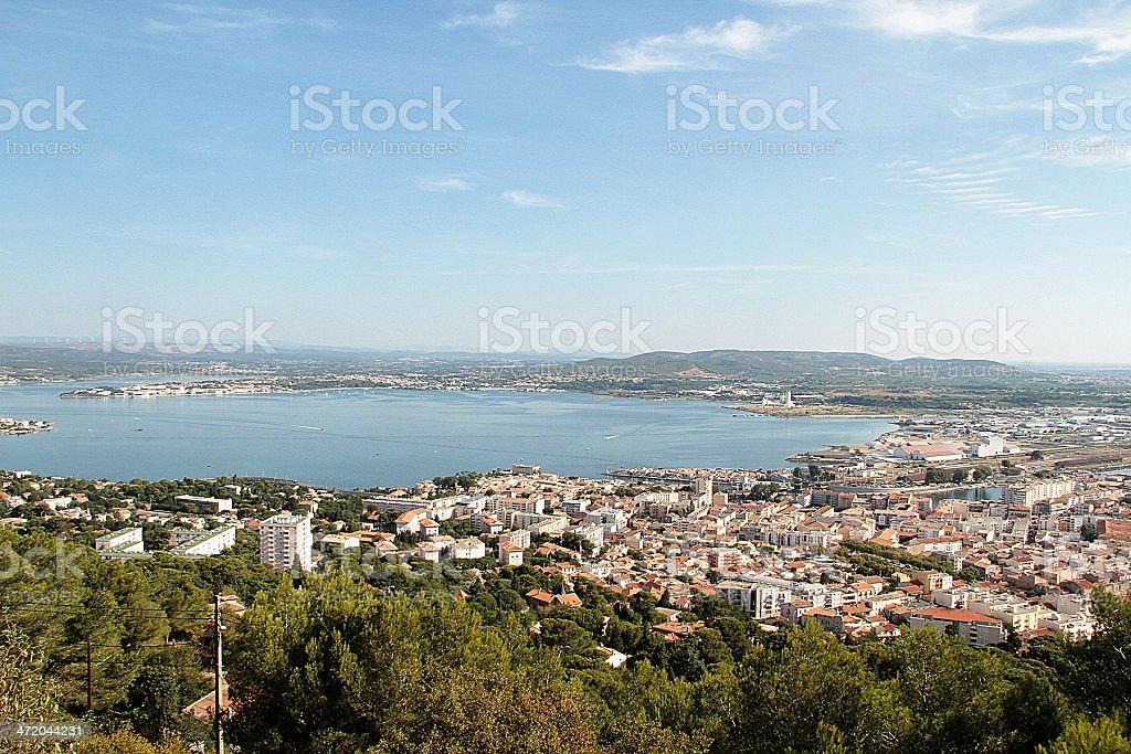 Vista del porto di S foto stock royalty-free