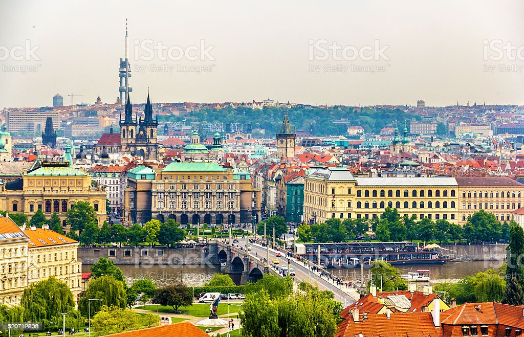 View of the Prague Old Town stock photo