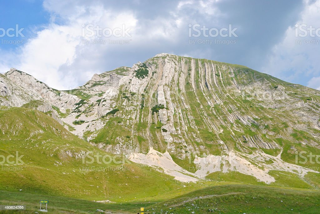 Widok z góry Prutash, Czarnogóra. zbiór zdjęć royalty-free
