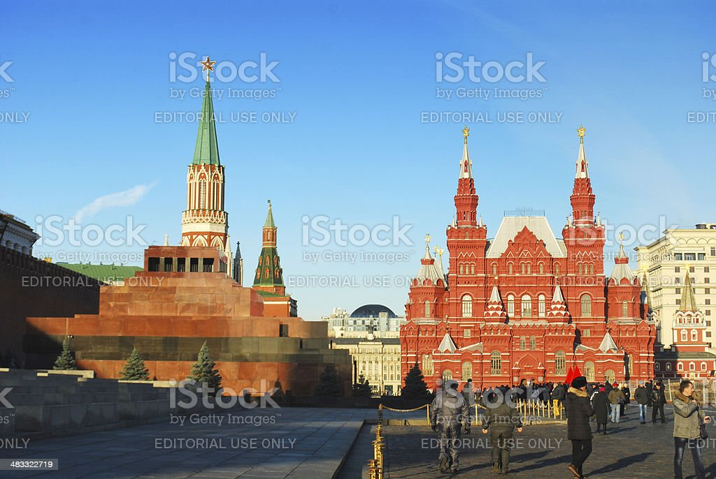 View of the Red Square stock photo