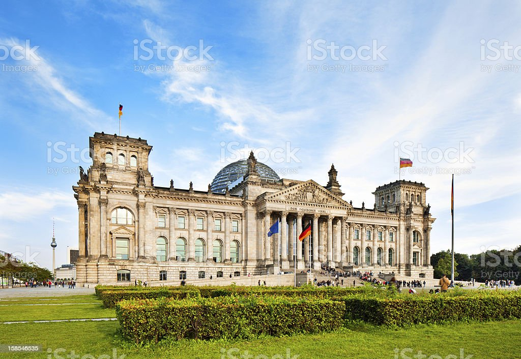 View of the Reichstag in Berlin stock photo