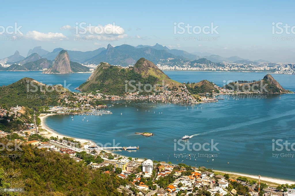 View of the Rio de Janeiro mountains stock photo