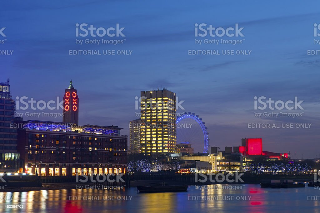 View of the River Thames stock photo