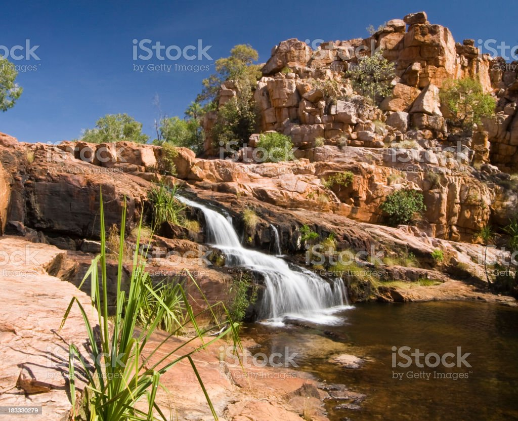 A view of the rock formations around Champagne Springs stock photo