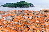 View of the roof tops  Dubrovnik, Croatia.