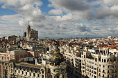 View of the roofs of Madrid