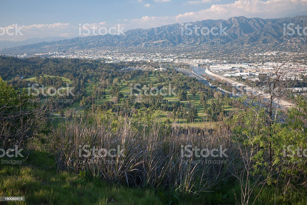 View of the San Fernando Valley royalty-free stock photo