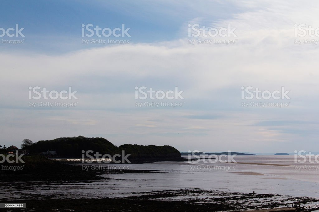View of the seafront at Clevedon, Somerset, Engalnd stock photo