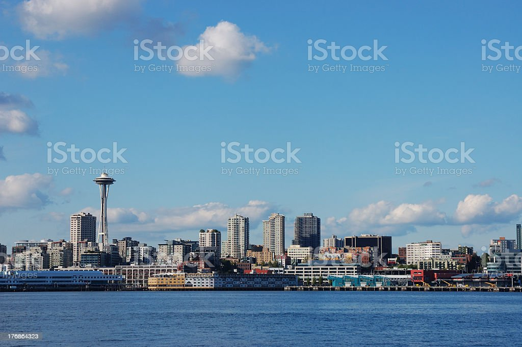 View of the Seattle skyline including the Space Needle royalty-free stock photo