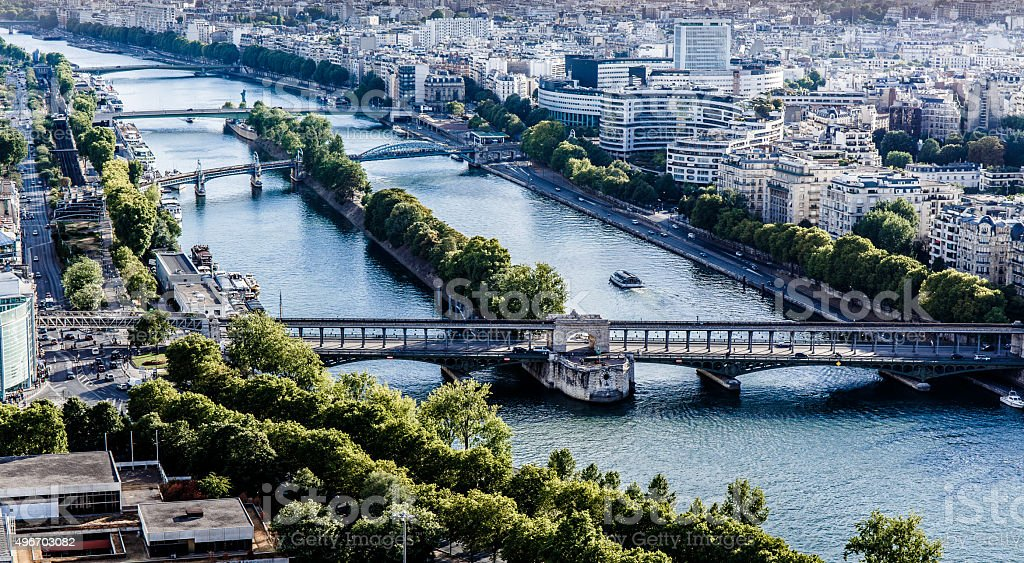View of the Seine stock photo